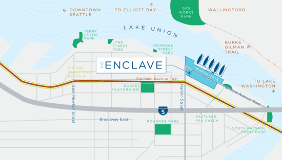 Lake Union's Enclave Sales Center Opens