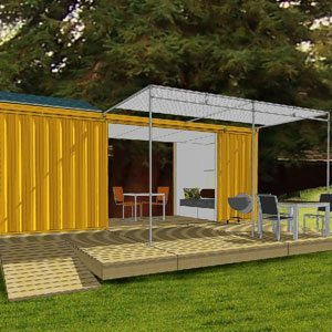 Live Off The Grid in 192 Sq Ft Container