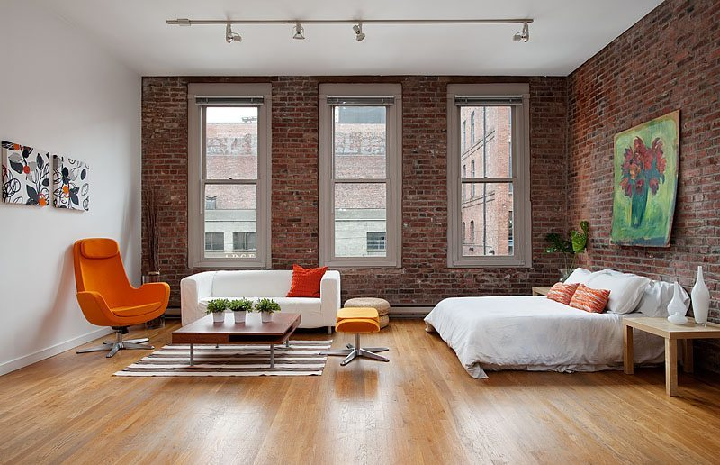 75 S Main St 201 Living Room Exposed Brick Loft at Our Home Hotel