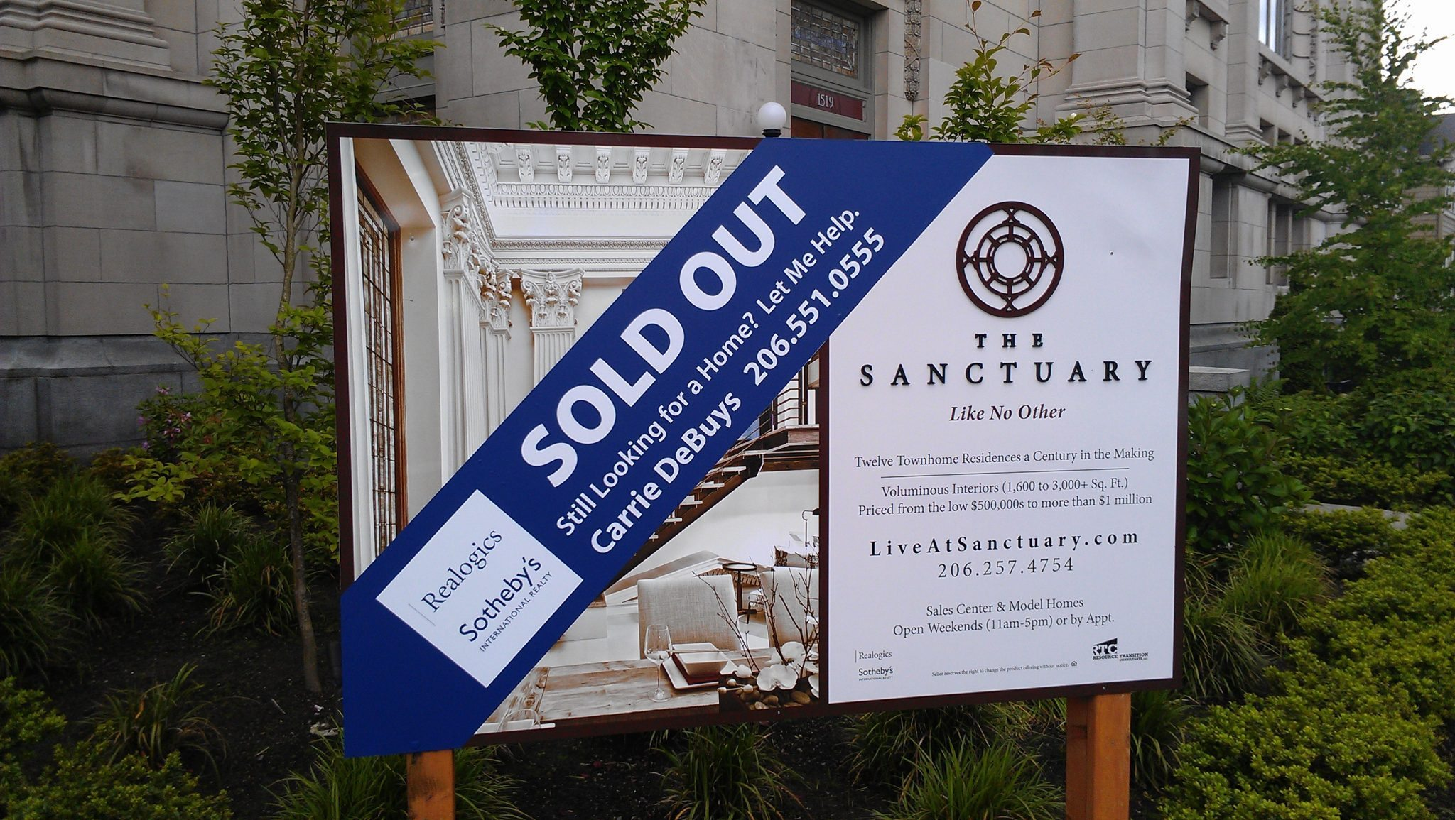 The Sanctuary is Now Officially Sold Out