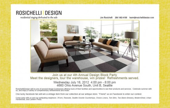 Design Block Party at Rosichelli SODO Warehouse
