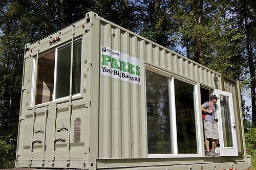 Camp in a Shipping Container