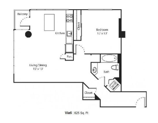 1 bedroom Now Leasing: New Via6 Apartments