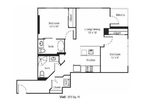 2 bedroom Now Leasing: New Via6 Apartments