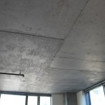 Exposed concrete ceiling