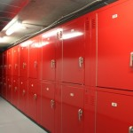 Bike storage lockers