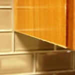 The finish of a kitchen cabinet
