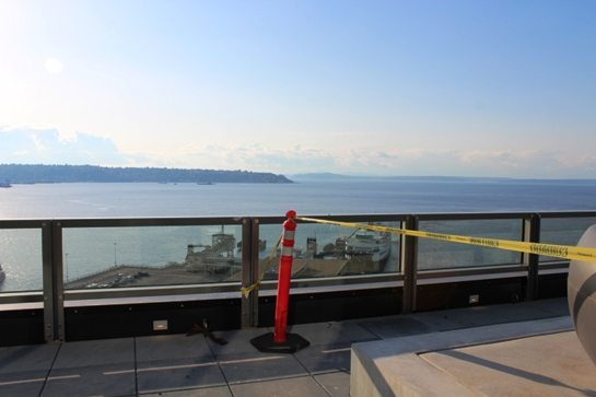 View of Elliott Bay from The Post Apartments at Western and Marion