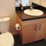 Laminate countertop in the bathroom