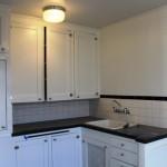 A refurbished kitchen in a vintage unit