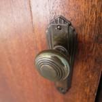 Original door knob on the original mahogany doors