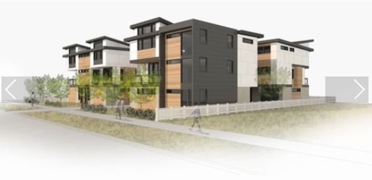 New townhouses under construction at 813 NW 53rd in Ballard, as featured on Blueprint