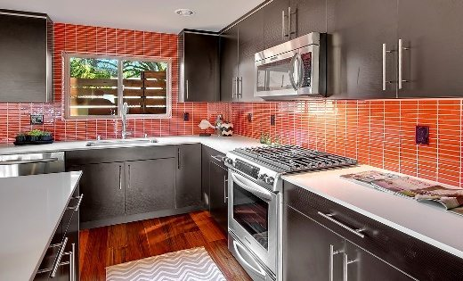 Holy Bright Red Backsplash