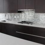 Kitchen with backsplash
