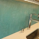 Backsplash made of maumoleum 150x150 Greenfire: New Boutique Apartment Building in Ballard thats eco friendly and cool