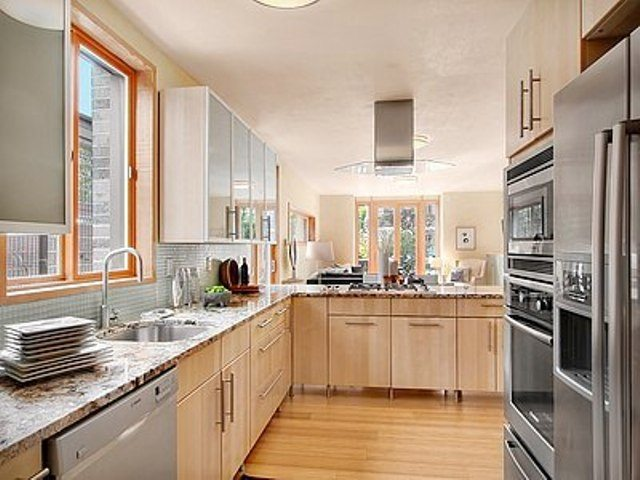 Kitchen with high-end appliances