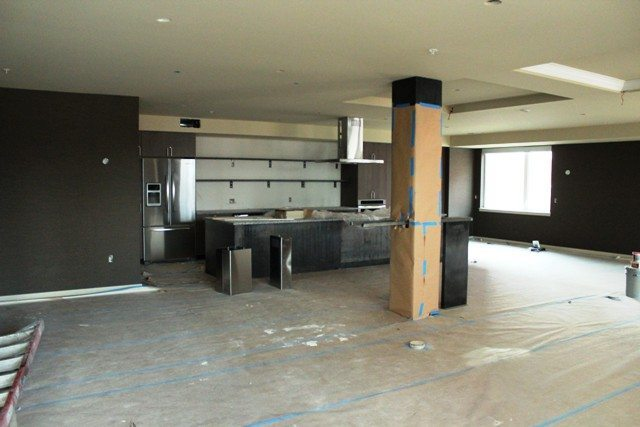 Under Construction: Community room with a huge kitchen area