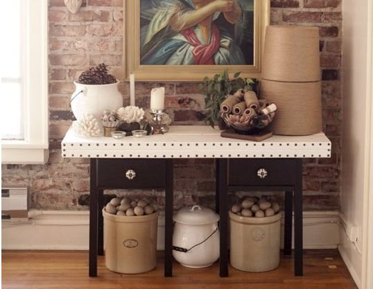 Creative storage in Khris and Valerie's home