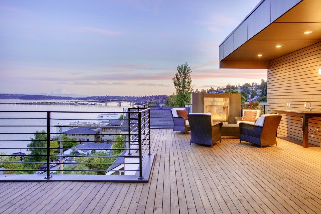 415 Lakeside Ave S Deck Elemental Designed Home Perched Above the Lake