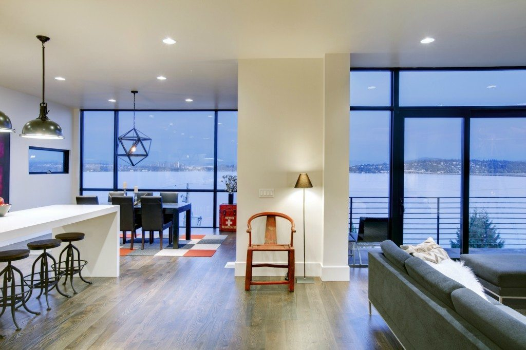 415 Lakeside Ave S Living room Elemental Designed Home Perched Above the Lake