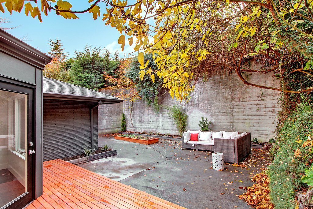 1435 33rd Ave S After Backyard Mt Baker Mid Century Re Model Before & After