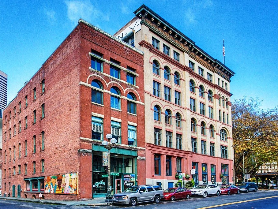 606 Post Ave Unit 401 Exterior Pioneer Square Loft with 22 Ceilings