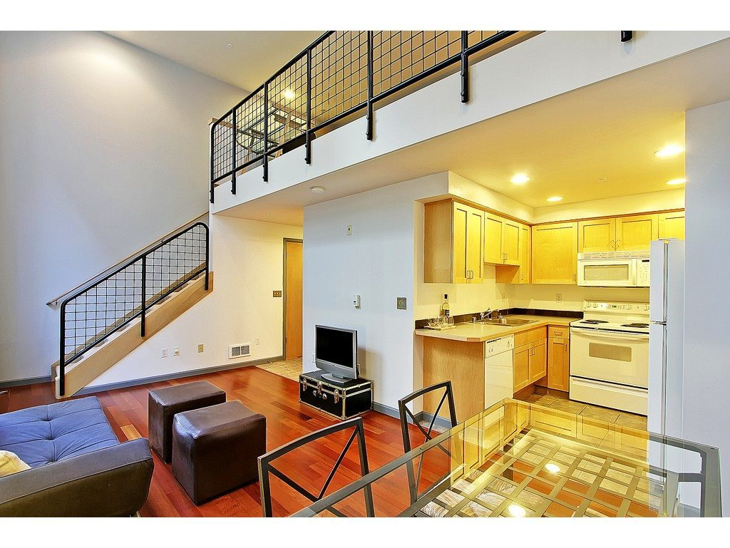 2324 1st Ave Unit 209 Living and Kitchen Two Lofts in the Austin Bell Buildin