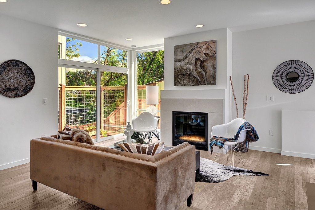 122 27th Ave E Fireplace Featured Listing: 3 Isola Homes in Madison Valley