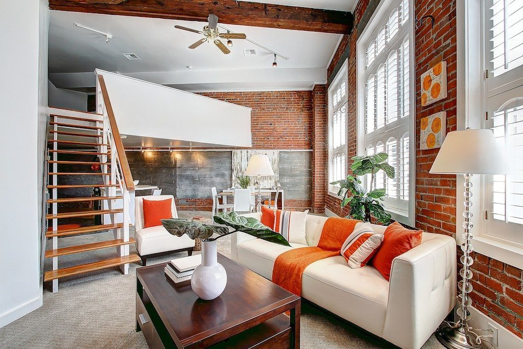 606 Post Ave 201 Living 2 Pretty Sweet Pioneer Square Loft