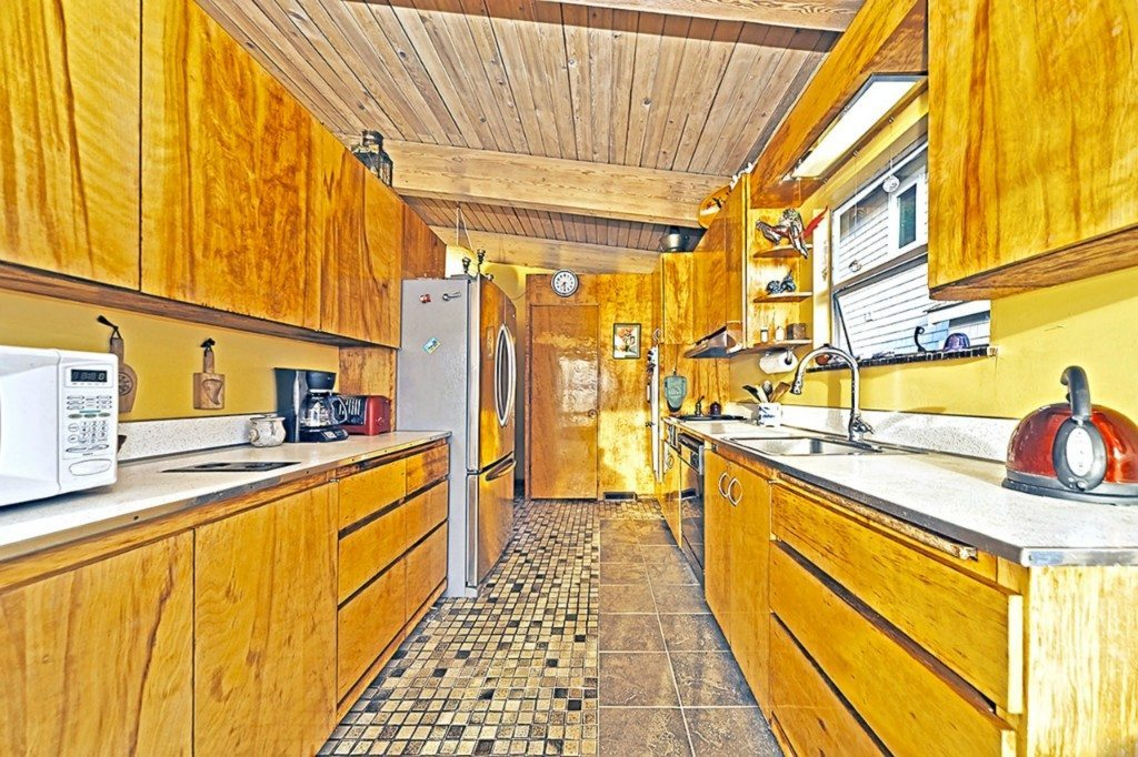 7111 Beach Dr SW Kitchen Mid Century on the Sound