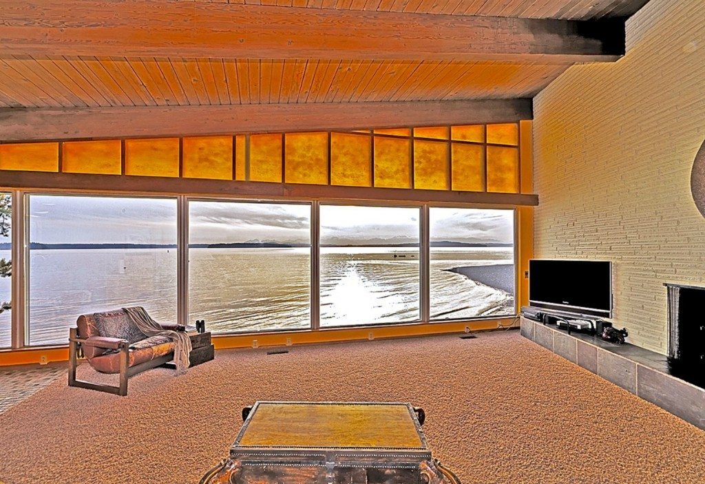 7111 Beach Dr SW Living Mid Century on the Sound