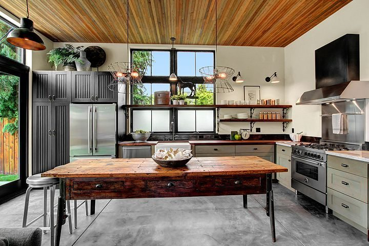 1931 6th Ave W Kitchen Inspired by the aesthetic of a French industrial loft