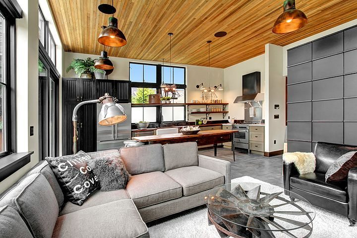 1931 6th Ave W Living 2 Inspired by the aesthetic of a French industrial loft