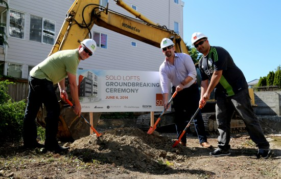 Solo Lofts groundbreaking