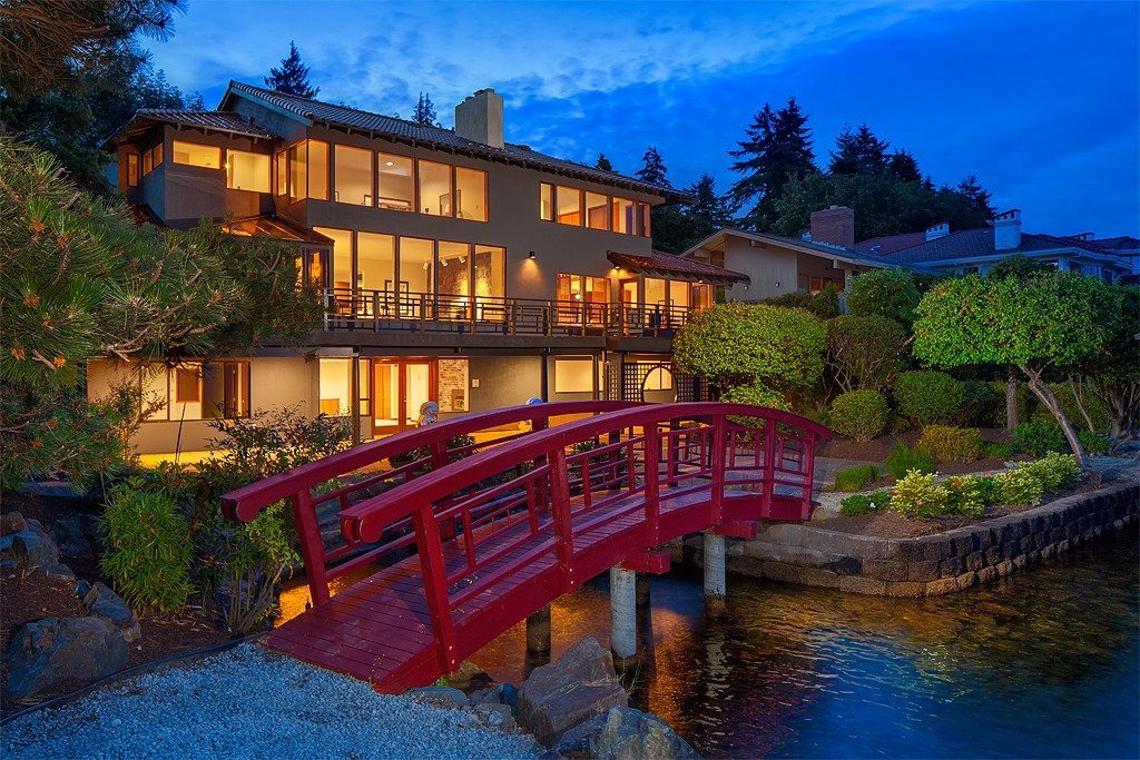 60s bridge 60s Chinoiserie on Lake Washington