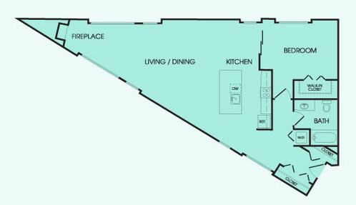 Don 39 t like a rectangular shaped space try this triangle for Triangular house floor plans