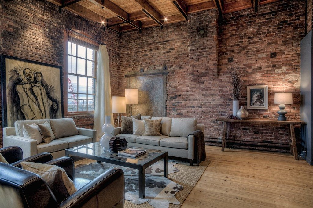 pioneer square loft with views brick and tall ceilings