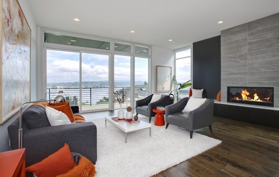4 Levels of Lake Views from New Modern in Leschi