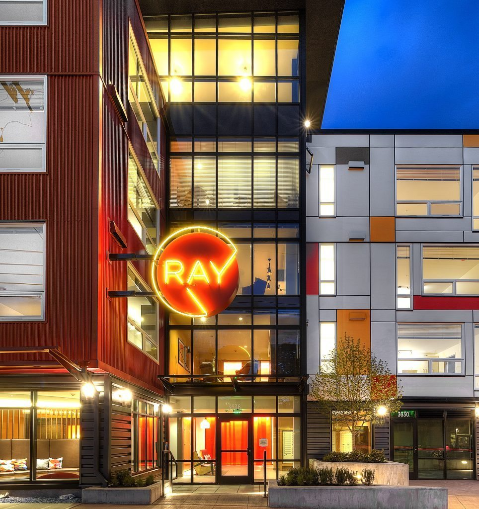 (2) Ray's 5-Story Glass Wall  & Amenity Spaces