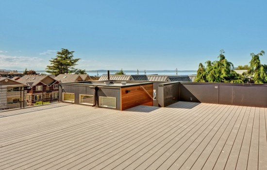 New Alki Modern with Wide Views from Rooftop Deck