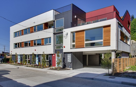 Three New Modern Townhouses in Alki