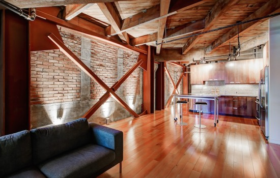 Exposed Brick and Steel Galore at Trace Lofts