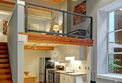 Two Story Loft in Old Commercial Laundry Building