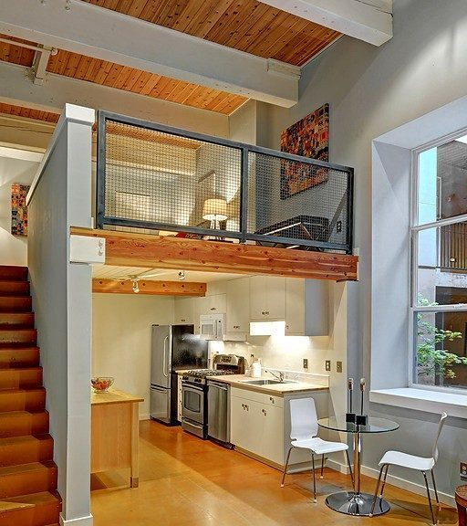 One Bedroom Lofts: Two Story Loft In Old Commercial Laundry Building