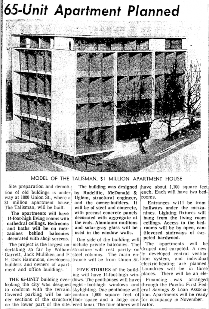 Talisman 1965 Article